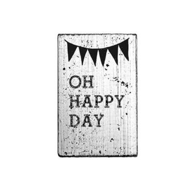 Pecsételő, Woodies, Vintage, 4x6 cm - Oh happy day