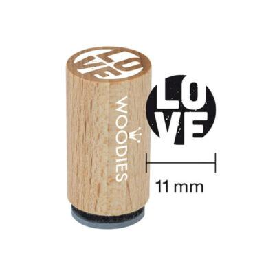 Pecsételő, Woodies, 1,3 cm - LOVE