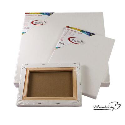 Munkácsy feszített festővászon, 2x3,3cm, 20x20 cm