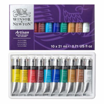 Winsor&Newton Artisan vizes olajfesték készlet - 10x21 ml