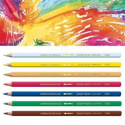 Caran d'Ache Supracolor Soft akvarellceruza - különféle színekben