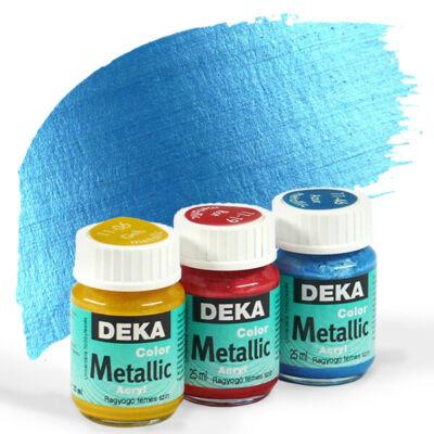 Deka Color Metallic metál akrilfesték 25 ml - 46 azúrkék