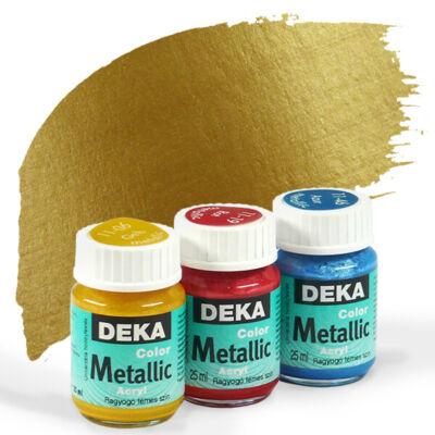 Deka Color Metallic metál akrilfesték 25 ml - 94 arany
