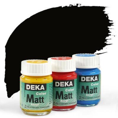 Deka Color Matt akrilfesték 25 ml - 90 fekete