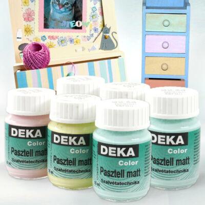 Deka Color pasztell matt akrilfesték 25 ml - különféle színekben