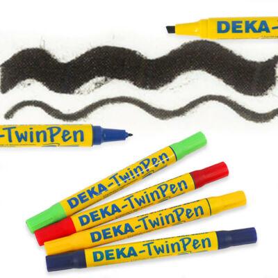 Deka TwinPen kétvégű textilfilc - 90 fekete