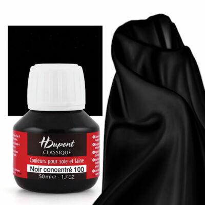 H Dupont Classique gőzfixálós selyemfesték 50 ml - 100 fekete, noir concentre