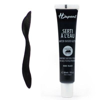 H Dupont Serti gőzfixálós selyemkontúr, gutta, 30 ml - 100 fekete, noir