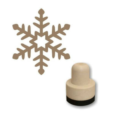 Pecsételő, kerek, 3 cm - Foam bélyegző - Hópehely 2