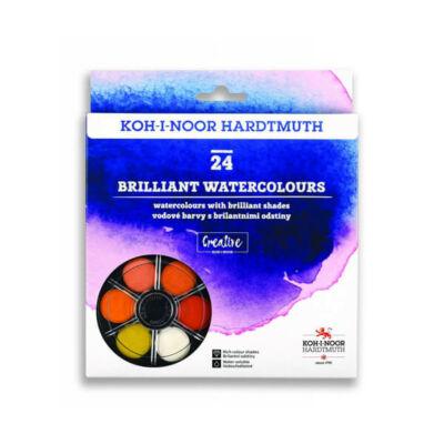 KOH-I-NOOR Brilliant Watercolours (Anilinky) vízfesték készlet - 24 db