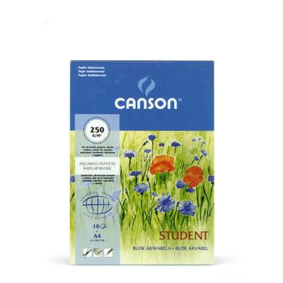 Canson Student akvarelltömb, 250 g, 10 lap, A4
