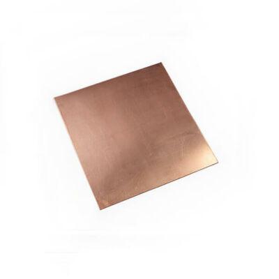 Vörösréz lemez rézkarchoz, 1 mm vastag - 10x10 cm