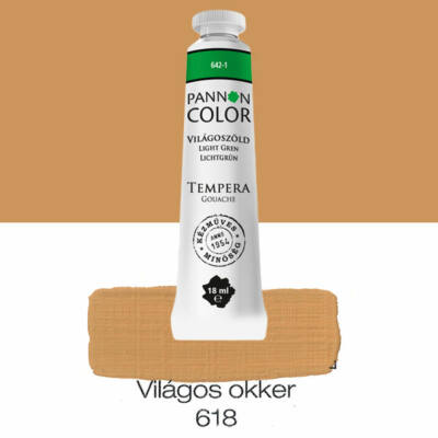 Pannoncolor gouache tempera, 18 ml, 618 - világosokker