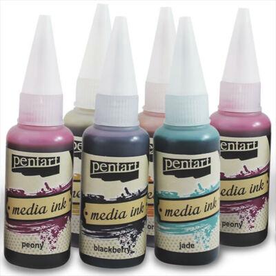 Pentart Media ink, tintafesték, 20 ml - különféle színekben
