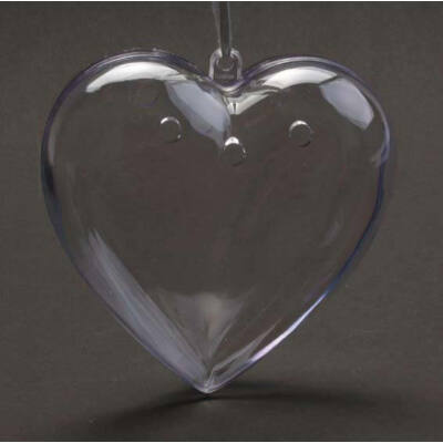 Kétrészes műanyag szív - 8 cm, potpourri