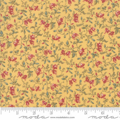 Patchwork anyag - Moda - Sarah's Story by Betsy Chutchian 31591-12 Delicate Vine butter