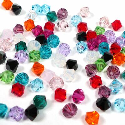 Preciosa kúpos kristálygyöngy, 4 mm - különféle színekben