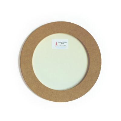 Premium board festmény öntőforma műgyantához - kör, 25 cm+keret