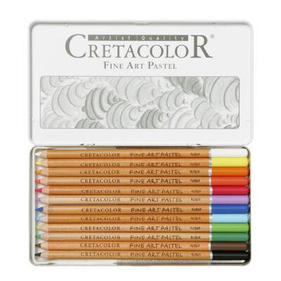 Cretacolor fémdobozos pasztellceruza készlet - 12 db