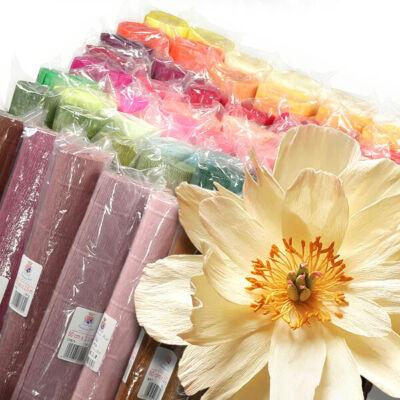 Virágkrepp-papír, 180 g, 50x250 cm - különféle színekben