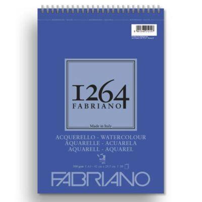 Fabriano 1264 akvarelltömb, 300 g - A3, felül spirálos