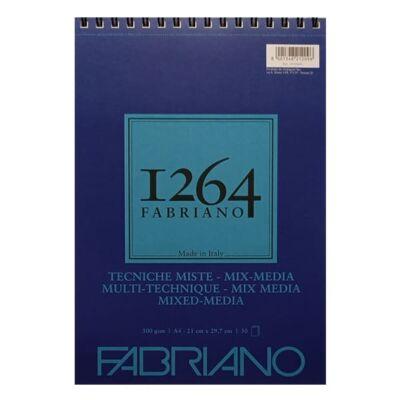 Fabriano 1264 Mix Media rajz- és festőtömb, 300 g - A3, felül spirálos