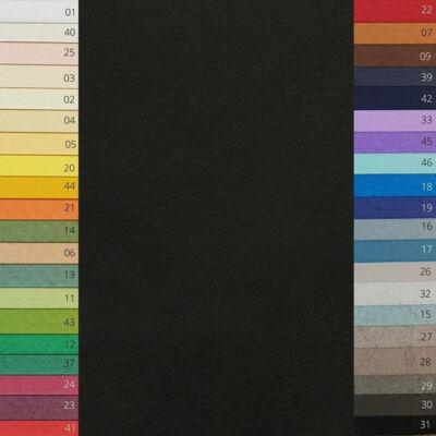 Fabriano Tiziano színes rajzpapír, 50x65 cm - 31, nero