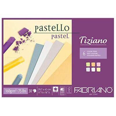 Fabriano Tiziano rajztömb, 160 g, 30 lap - A3, lágy színek