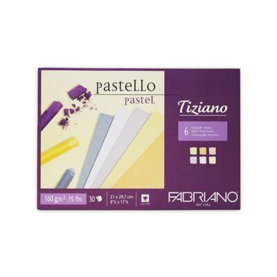 Fabriano Tiziano rajztömb, 160 g, 30 lap - A4, lágy színek