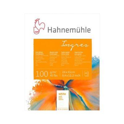 Hahnemühle Ingres tömb, 100 g, 20 lap, fehér - 24x31 cm
