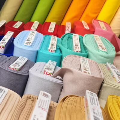 Patchwork anyag - Robert Kaufman - Kona Cotton K001 - különféle színekben