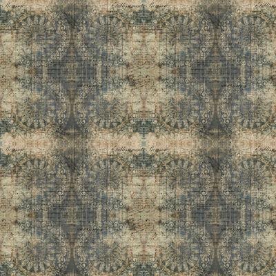 Patchwork anyag - Free Spirit - Abandoned II. by Tim Holtz 141INDIGO