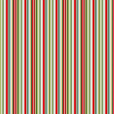 Patchwork anyag - Makower - Christmas 21 Classic Foliage 2203-G3 Classic stripe