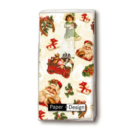 Papírzsebkendő csomag - karácsonyi matricák