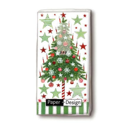 Papírzsebkendő csomag - Karácsonyfa