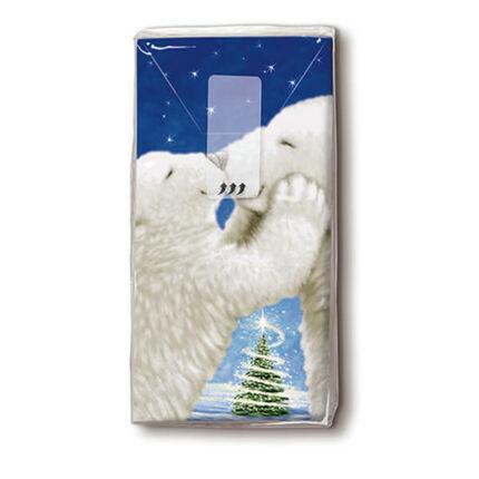 Papírzsebkendő csomag - Jegesmedve csók
