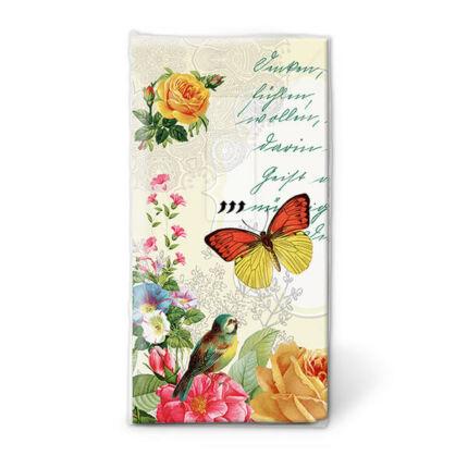 Papírzsebkendő csomag - Pillangó portré
