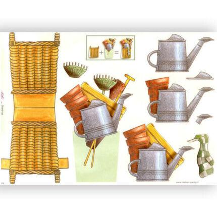 3D papír - kerti eszközök