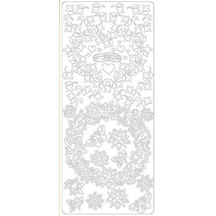 Kontúrmatrica - eljegyzés, fehér, 0214 - AKCIÓS