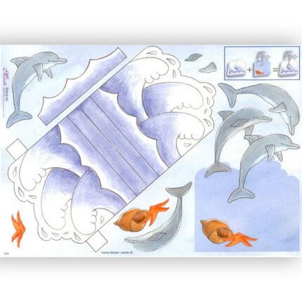 3D papír - delfin show