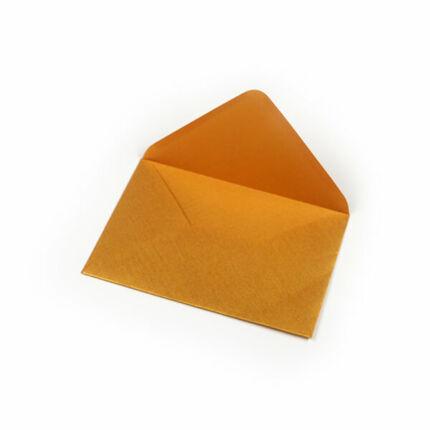 Boríték, C6, 11x16 cm - metál, arany, 80 g