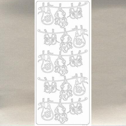 Kontúrmatrica - babaruhák, ezüst, 0015  - AKCIÓS