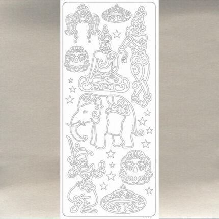 Kontúrmatrica - thaiföld, ezüst, 0027  - AKCIÓS
