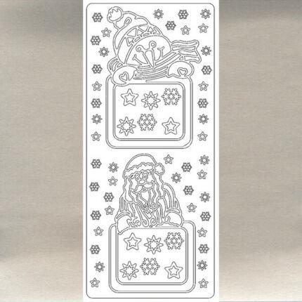Kontúrmatrica - téli képkeret, ezüst, 0084  - AKCIÓS