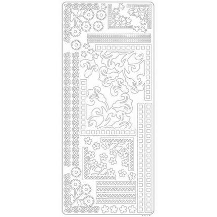 Kontúrmatrica - sarok és bordűr II, fehér, 0215  - AKCIÓS