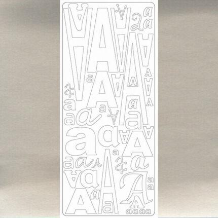 Kontúrmatrica - betű, A, ezüst, 0233  - AKCIÓS