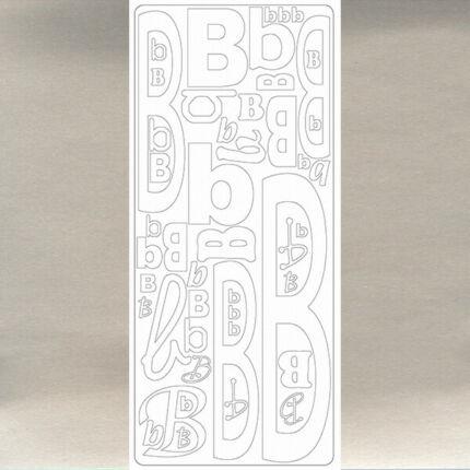 Kontúrmatrica - betű, B, ezüst, 0234  - AKCIÓS