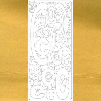 Kontúrmatrica - betű, C, arany, 0235  - AKCIÓS