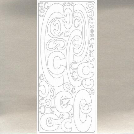 Kontúrmatrica - betű, C, ezüst, 0235  - AKCIÓS
