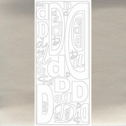 Kontúrmatrica - betű, D, ezüst, 0236  - AKCIÓS